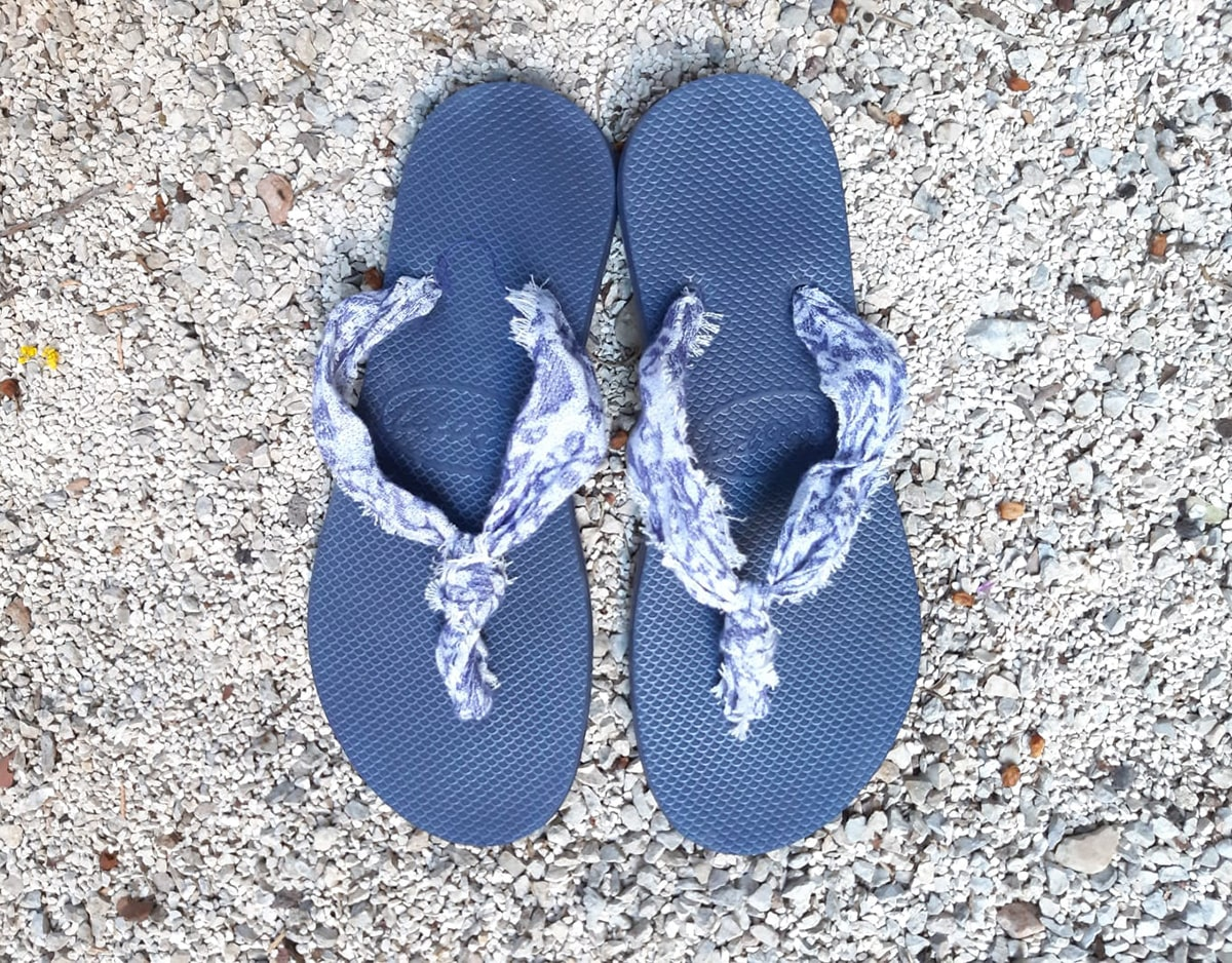 Final DIY Flip Flop Cloth