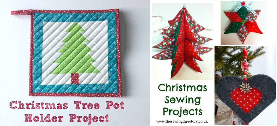 Christmas Tree Pot Holder Patchwork Project-min