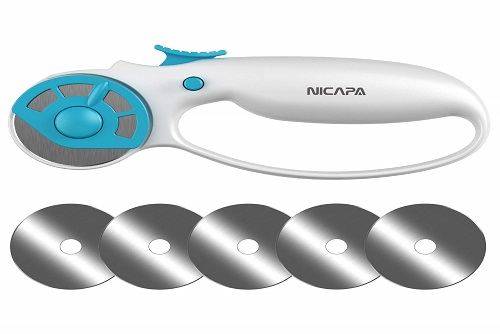 NICAPA Ergonomic Rotary Cutter With Safety Lock