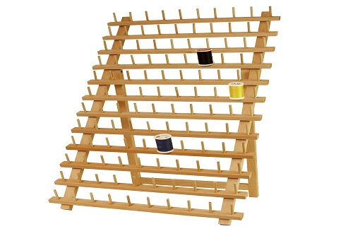 US Art Supply Beechwood 120 Spool Thread Rack