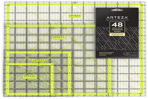 ARTEZA Acrylic Quilters Ruler Set