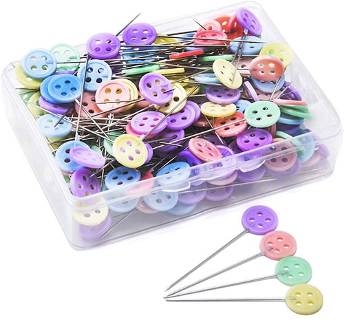 Button Head Sewing Pins