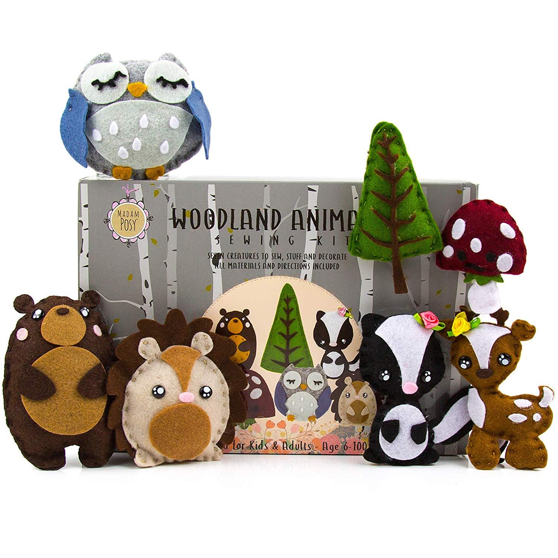 Woodland Animal Sewing Kit