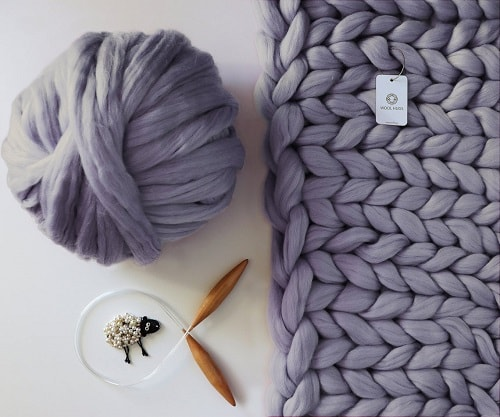 Chunky Knit Blanket Kit