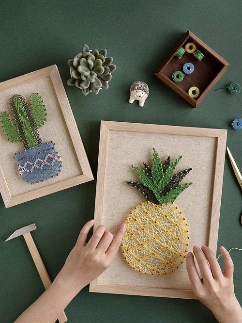 DIY Pineapple String Art Kit