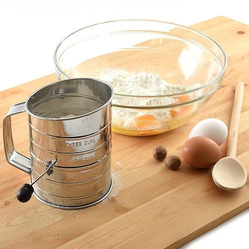 Hand Crank Flour Sifter