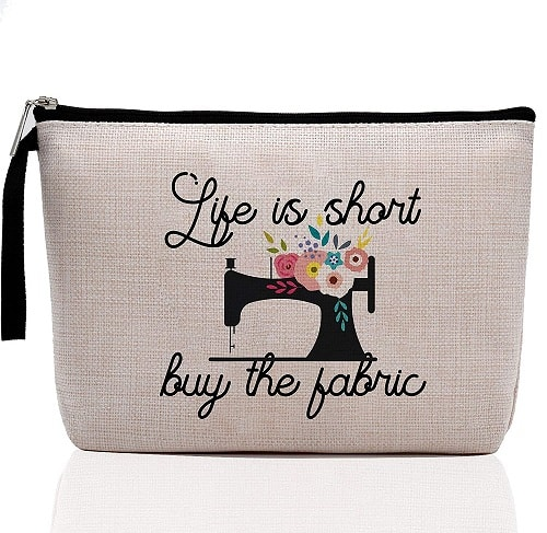 Life Is Short Buy The Fabric-Makeup Bag