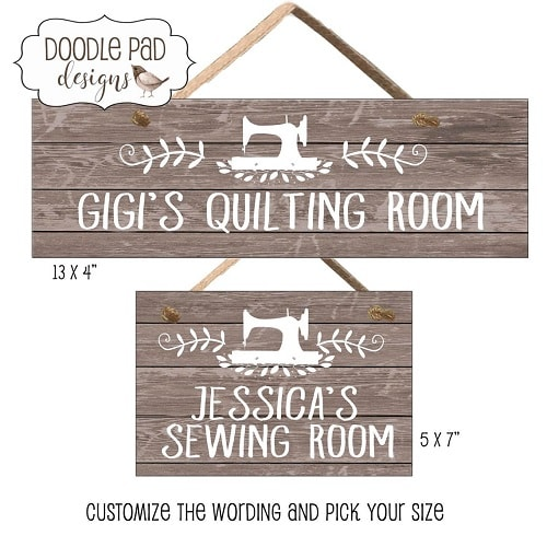 Sewing Room Door Sign