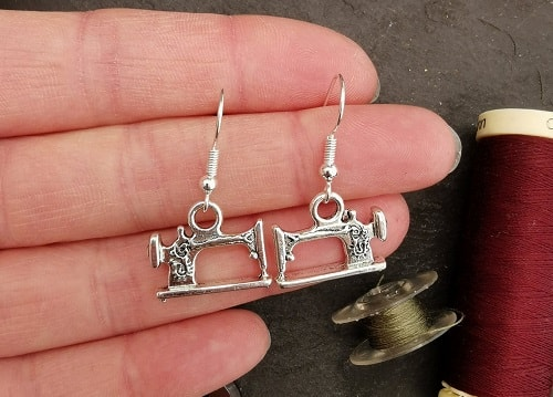Sewing Machine Drop Earrings